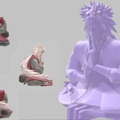Descargar STL gratis Jiraya (Ero senin - Pervy Sage) de Naruto, welbot