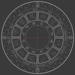 astro-1.png Download STL file Astrological Zodiac Wheel • Object to 3D print, robm