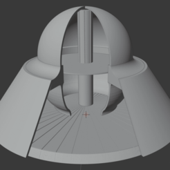 1_full_blender.png Download free STL file UFO Flying Saucer Alien Craft • 3D print object, robm