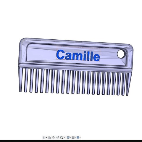 camille.jpg Download free STL file Mane comb ( horses) • Object to 3D print, ericsud2