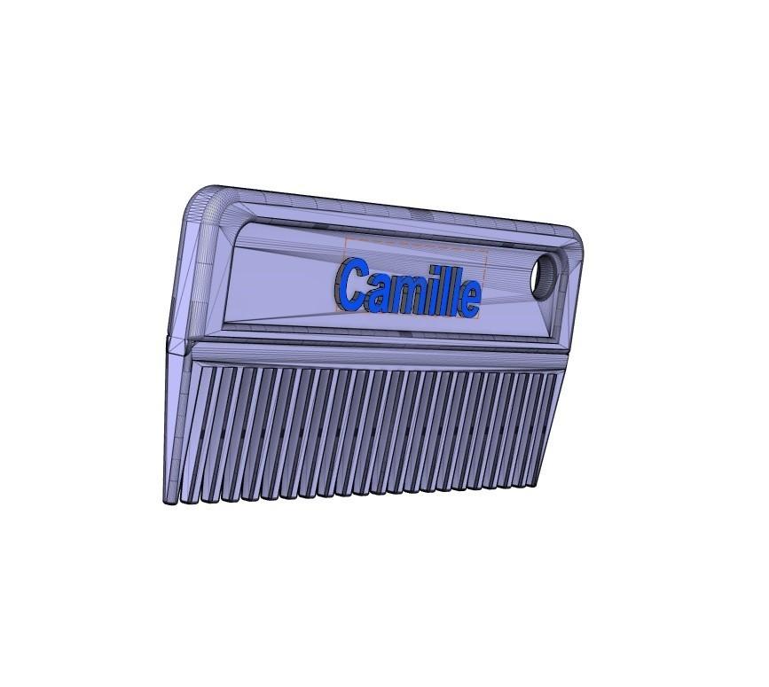 peigne ( Camille ).jpg Download free STL file Mane comb ( horses) • Object to 3D print, ericsud2