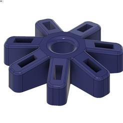 support de 7 clés usb.jpg Download free STL file usb flash drive holders for the buraut • 3D printer design, ericsud2