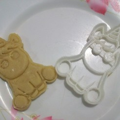 Impresiones 3D cookie cutter unicorn, mariafernandaestrada