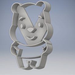 Descargar modelos 3D cookie cutter cortador de galleta winnie pooh, mariafernandaestrada