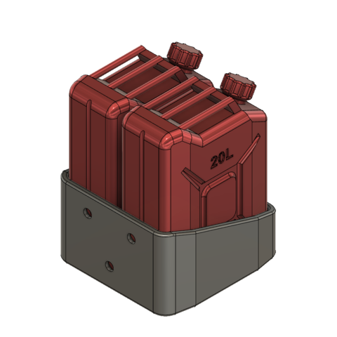Jerry can support 2-1-BA.png Download STL file JERRY CAN FUEL CAN TRX4 SCX10 K5 RC4WD SCALE RC Support • 3D print object, kiatkla