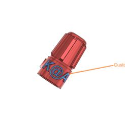 presta valve cover v1.png Download free STL file presta valve covers plug with custom text • 3D printer template, kiatkla