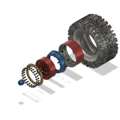 Impresiones 3D gratis Neumático RC de 1,9 pulgadas, 110 mm., kiatkla