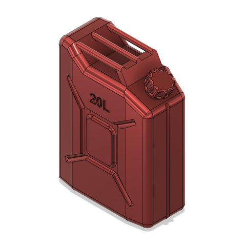Jerry can 20 V1.png Download free STL file Jerry can Fuel can TRX4 SCX10 K5 RC4WD scale rc • 3D printable object, kiatkla