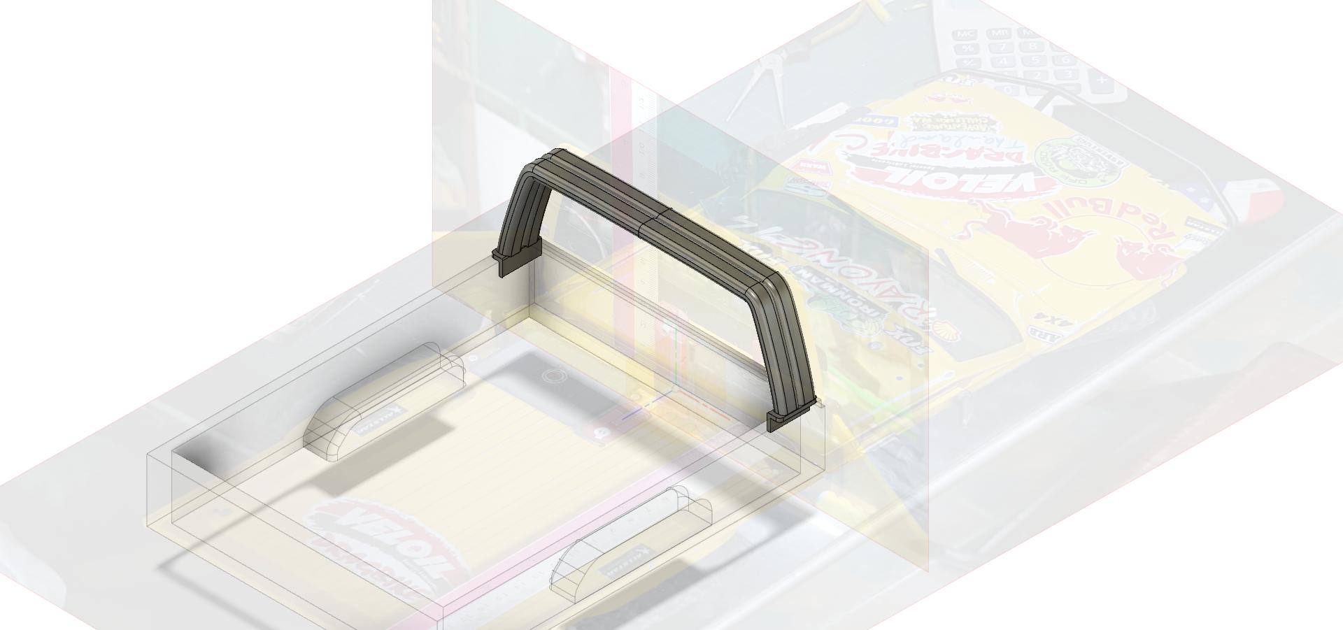 Rool bar V1-1 thin.png Télécharger fichier STL gratuit TOYOTA HARD ROOL BAR SCX10 RC4WD K5 TRX4 • Design pour imprimante 3D, kiatkla