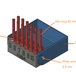 Download 3D printing templates torx screw  hex screw bit box , kiatkla
