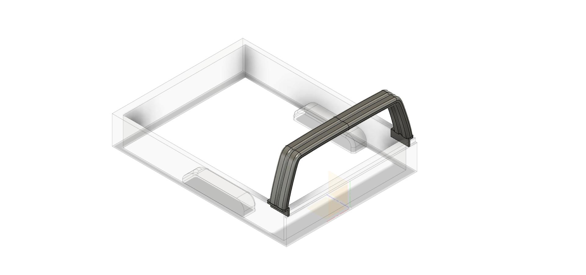 Rool bar V1-1 thin 3.png Télécharger fichier STL gratuit TOYOTA HARD ROOL BAR SCX10 RC4WD K5 TRX4 • Design pour imprimante 3D, kiatkla