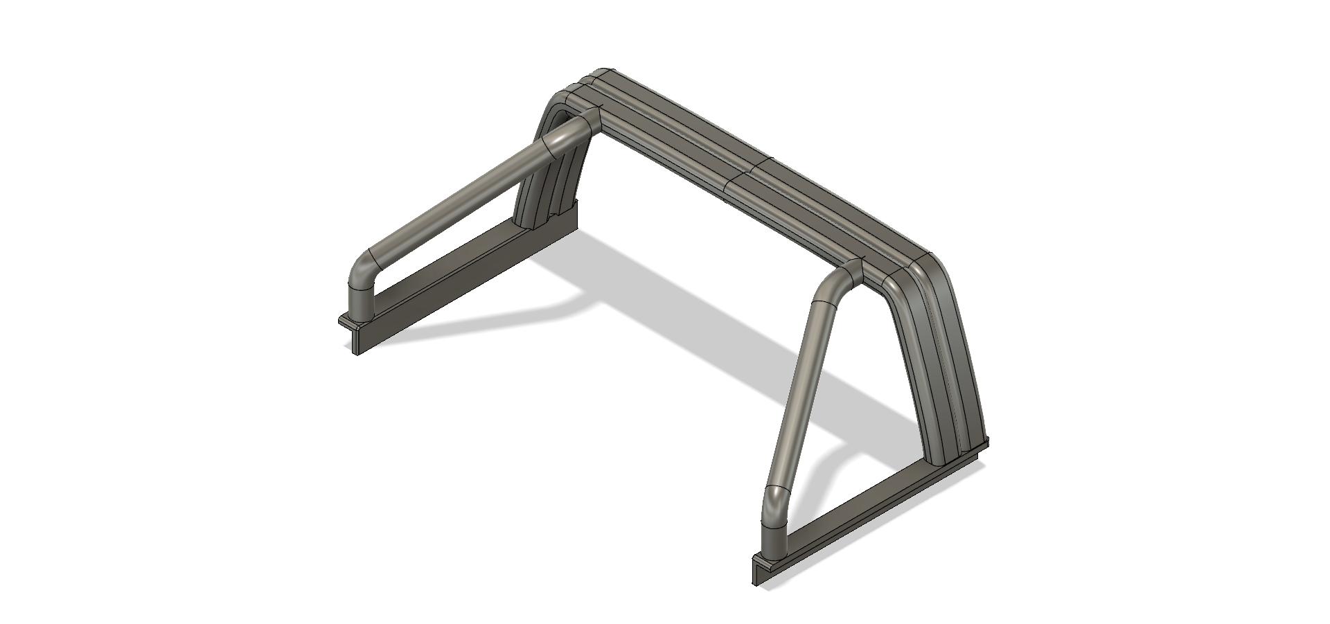 YOTA rool bar V2-2.png Download STL file TOYOTA HARD BODY SHELL ROOL BAR  • 3D printer design, kiatkla
