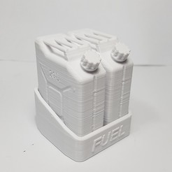 stl files JERRY CAN FUEL CAN TRX4 SCX10 K5 RC4WD SCALE RC Support, kiatkla