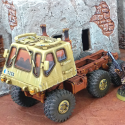extraChassisPreviewL.png Download STL file Extra Truck Chassis - 28mm • 3D printing template, tabletop-terrain
