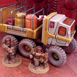 outpostUtilityScalePreview.png Download STL file Outpost Utility - 28mm • 3D printing design, tabletop-terrain