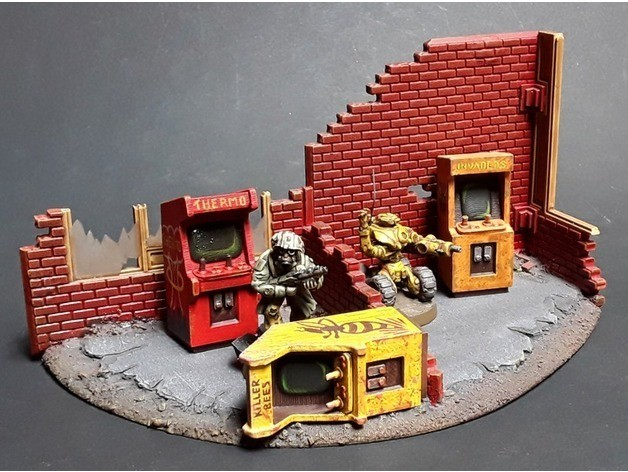 7a9be31db6b9fe614557a5aad8ad694b_preview_featured.jpg Download free STL file Arcade Game Cabinets 28mm Scale • 3D printable model, tabletop-terrain