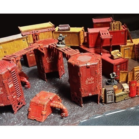 1bda266ea51d9560de650f4c15e7da63_preview_featured.jpg Download free STL file Industrial Walkways 28mm • Template to 3D print, tabletop-terrain