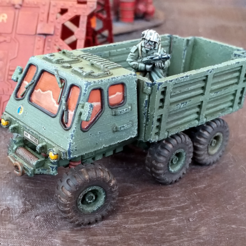 militaryTruckScale.png Download STL file Military Truck - 28mm • Design to 3D print, tabletop-terrain