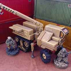 halftrackScalePreview.png Download STL file Halftrack Recovery - 28mm • Model to 3D print, tabletop-terrain