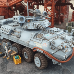 lavFront.png Download STL file Light Armored Vehicle - 28mm • Object to 3D print, tabletop-terrain