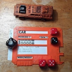 Free 3D print files Gaslands Vehicle Dice Template, tabletop-terrain