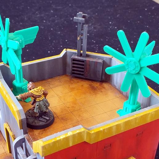 Descargar modelo 3D gratis Abanico de Techo Sci-Fi, tabletop-terrain
