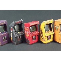archivos stl Arcade Game Cabinets Escala 28mm gratis, tabletop-terrain