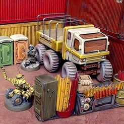 Free 3D printer files 28mm Portaloo and other Scatter Terrain, tabletop-terrain