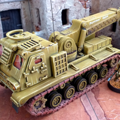 arvScale.png Download STL file Armored Recovery Vehicle - 28mm • 3D printing model, tabletop-terrain