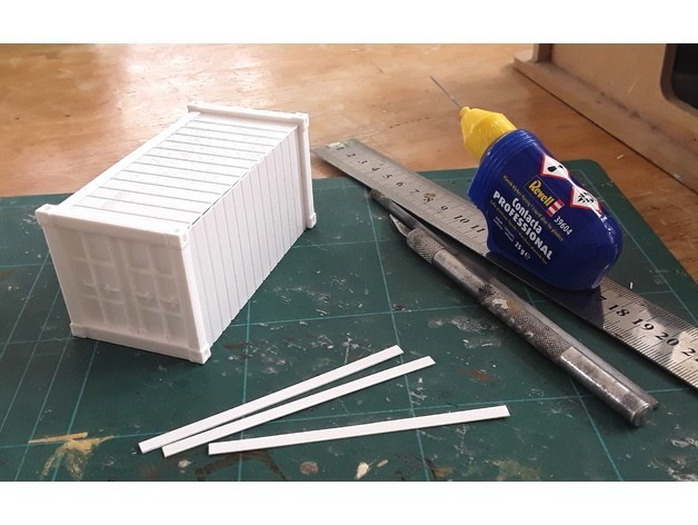 c46d7f45f75cbd2d9f0bd0befc9b9436_preview_featured.jpg Download free STL file 28mm Kitset Shipping Containers • 3D printable design, tabletop-terrain