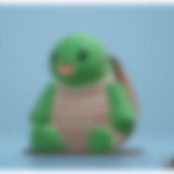 turtle_final.stl Download STL file Cute Turtle • 3D printable template, Malek_