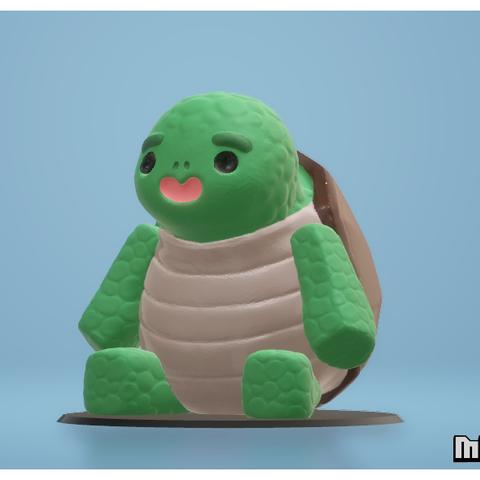 turtle1.png Download STL file Cute Turtle • 3D printable template, Malek_