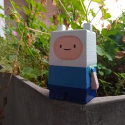 finnrl.png Télécharger fichier OBJ gratuit Finn Adventure Time - cubique mini • Modèle pour impression 3D, Malek_
