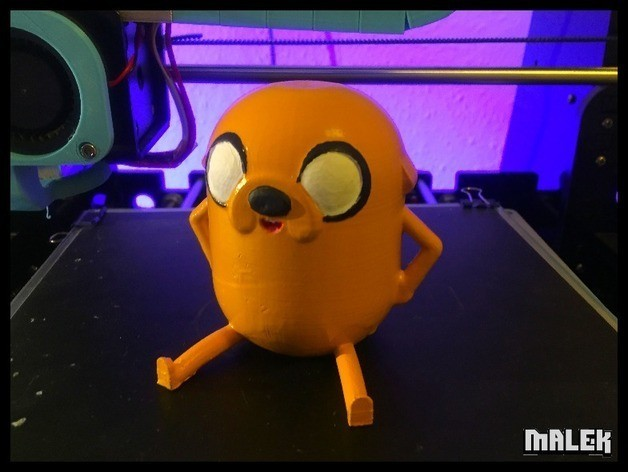 d5e98924eeadac256105252357394597_preview_featured.jpg Download free STL file Jake the dog from Adventure Time • 3D printer template, Malek_