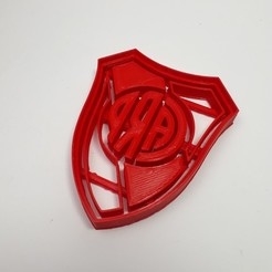 Download 3D printer designs River Plate - Shield Cookie Cutter, Josualuis