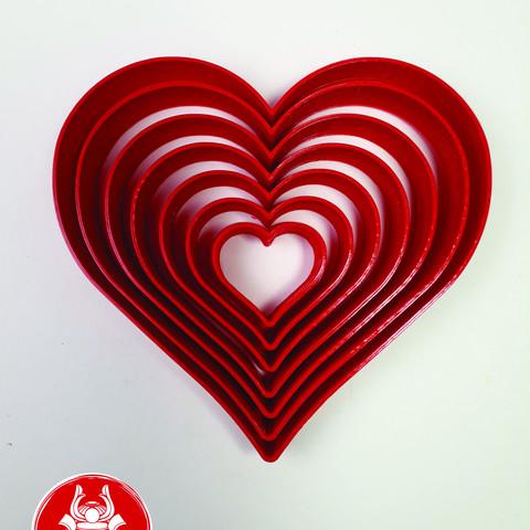 3D printer models Heart Cutter Set, Josualuis