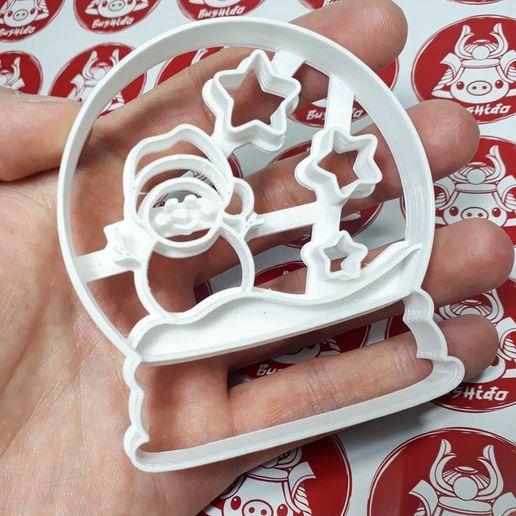 Descargar archivos STL Snowball Glass - Snowman - Cookie Cutter, Josualuis