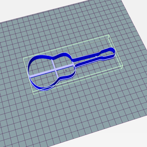 Download 3D printing designs Guitar Cookie Cutter, Josualuis