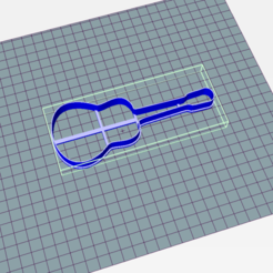 Download 3D printing designs Guitar Cookie Cutter, Josualuis