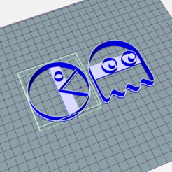 Download 3D printing files Pacman and Gosth - Cookie Cutter, Josualuis