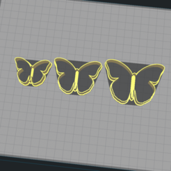 1.png Download STL file Butterfly - Cookie Cutter • 3D print object, Josualuis