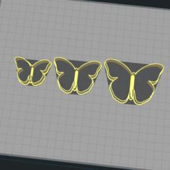 1.png Télécharger fichier STL Papillon - Coupe-biscuit • Plan pour impression 3D, Josualuis