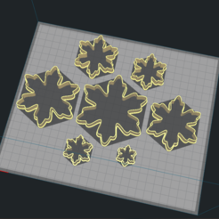 Download STL Snowflake Cutter Set, Josualuis