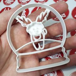 Download STL file Snowball Glass - Deer - Cookie Cutter, Josualuis