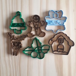 20201112_144323.jpg Download STL file Christmas Set - Cookie Cutter • 3D printable design, Josualuis