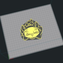 4.jpg Download STL file Marie Aristocats - Cookie Cutter - Stamp • Object to 3D print, Josualuis