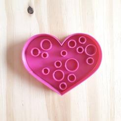 Circulos.jpg Download STL file Heart Circle Stamp - Cookie Cutter • Design to 3D print, Josualuis