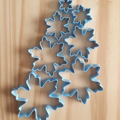 125418528_992328274597832_8137863276315365268_o.jpg Download STL file Snowflake Cutter - Christmas - Cookies • 3D printable object, Josualuis