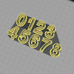 1.png Download STL file Number Cutter Set 2,5cm • Object to 3D print, Josualuis