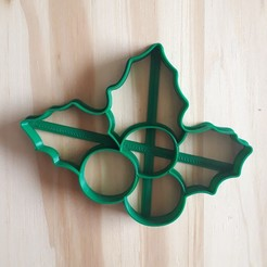 20201112_143059.jpg Download STL file Mistletoe - Christmas - Cookie Cutter • 3D print object, Josualuis